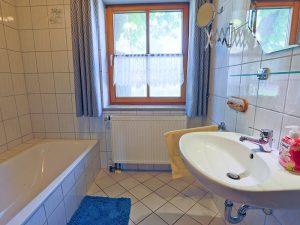 Badezimmer der Ferienwohnung Weideglück